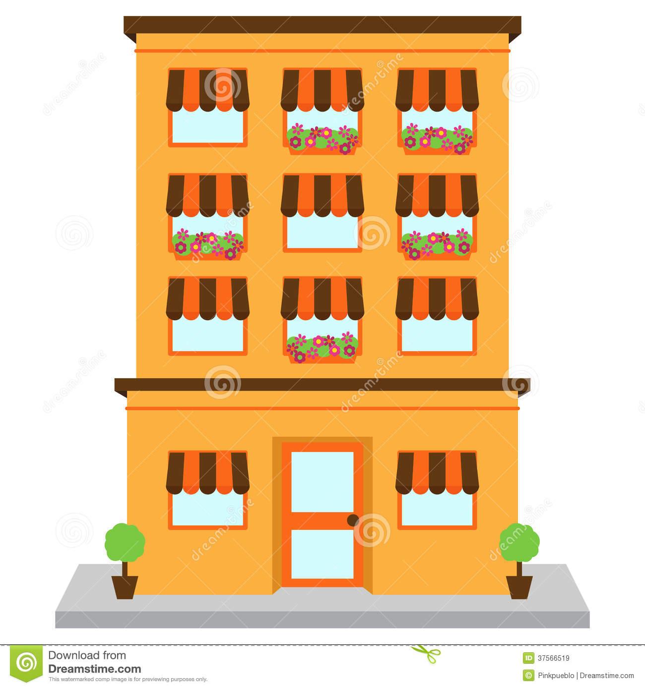 Building clipart orange Clipart Download Apartment Clip Clip