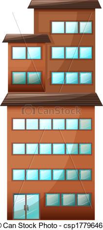 Building clipart orange Of A high csp17796463 Illustration