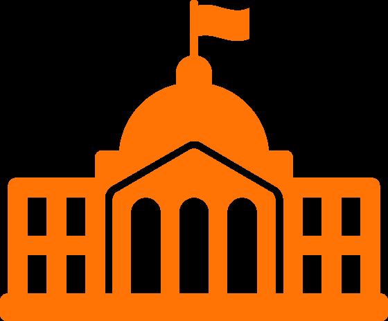 Building clipart orange Building government images orange orange