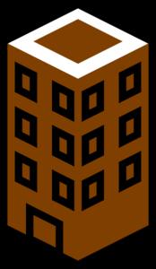Building clipart orange Online Clker com Brown art