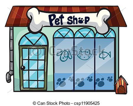 Building clipart pet shop Of Illustration illustration pet Vector