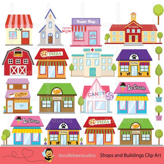 Restaurant clipart cafe building Shops Shops Buildings from Shop