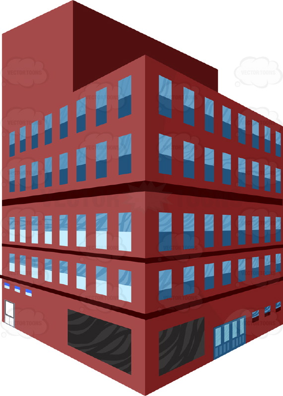 Brick clipart drawn Two Perscpetive Storeys Building Storeys