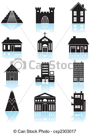 Structure clipart corporate building Set Structures Vector World Travel