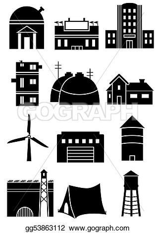 Structure clipart corporate building Types Clipart representing Stock Clipart
