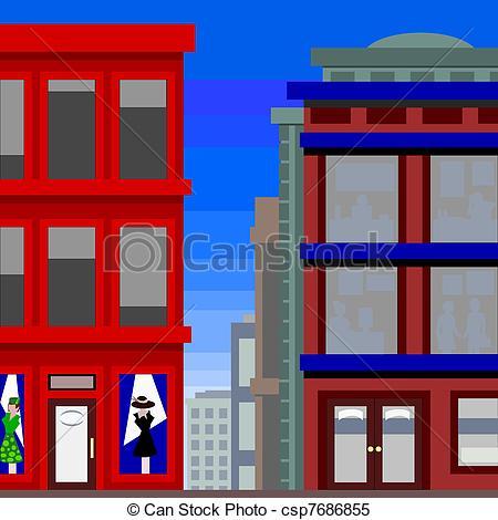Building clipart tall building Csp7686855 shop Vector shop Clipart