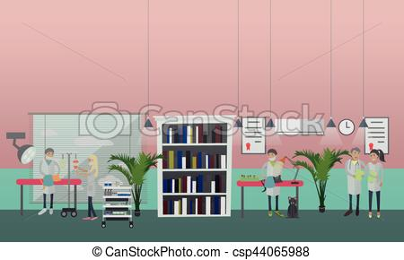 Building clipart vet clinic Surgical vector style in vet