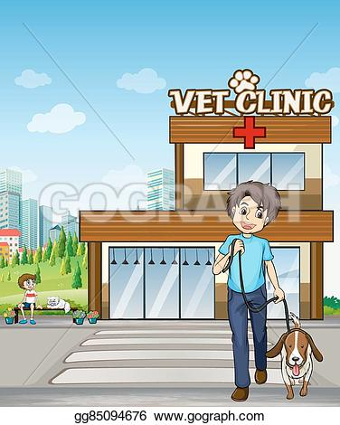 Building clipart veterinary clinic Vector to pet  Vector