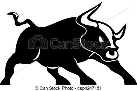 Drawn bulls spain bull Clip white vector angry Vector