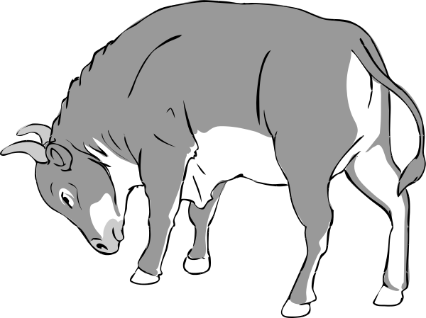 Bull clipart black and white Public Art of Clipart Clipart