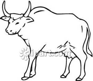 Bull clipart black and white Black Bull Free Picture Royalty