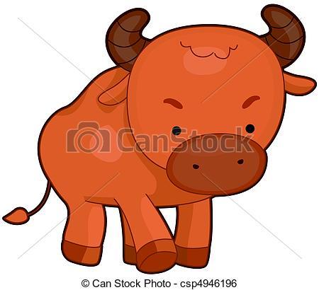 Bull clipart cute Bull Cute Illustration Bull of