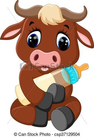 Bull clipart cute Vector baby Clipart of