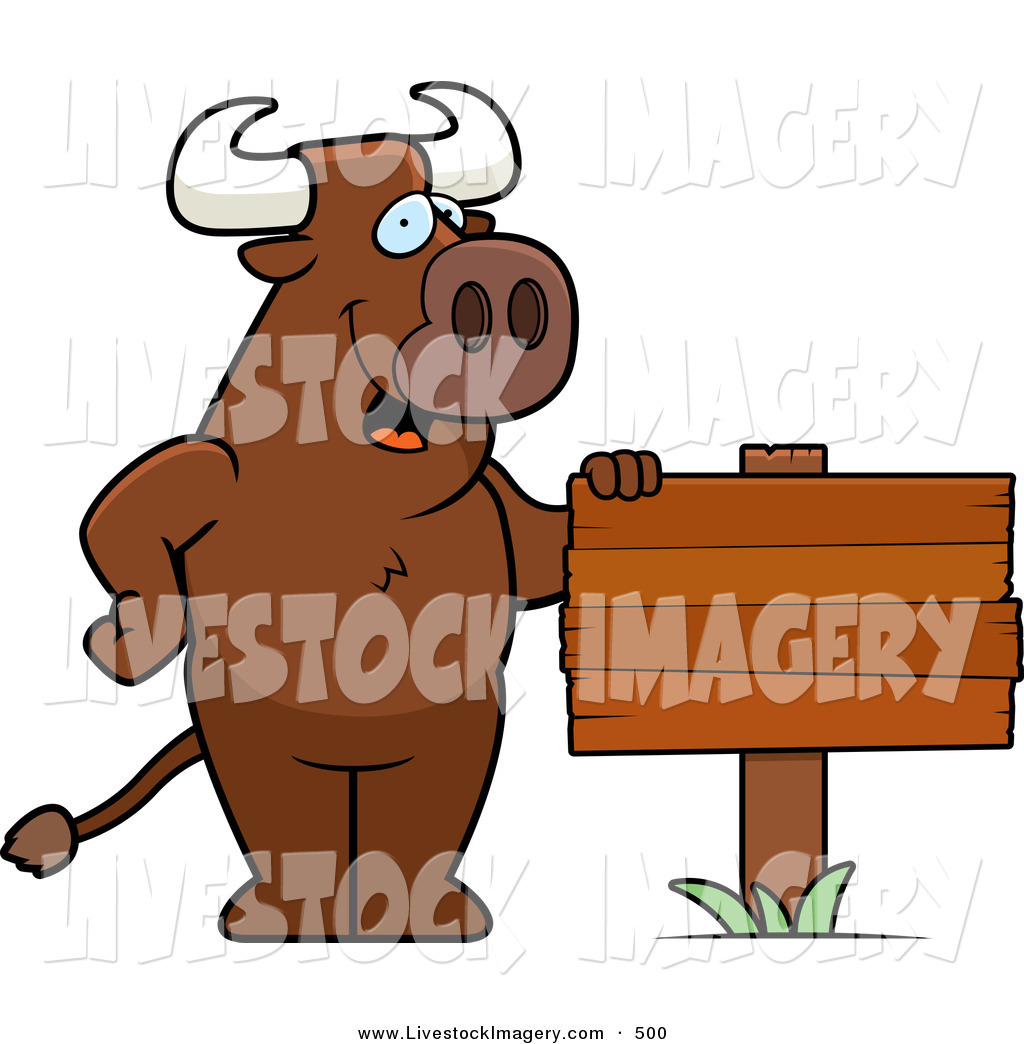 Bull clipart friendly Free Standing Friendly Planted Designs