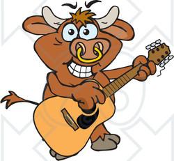 Bull clipart happy Guitar Acoustic Bull an Clipart