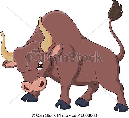 Bull clipart illustration Angry Art Clip bull Vector