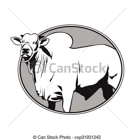 Bull clipart indian EPS zebu vintage Search Clip