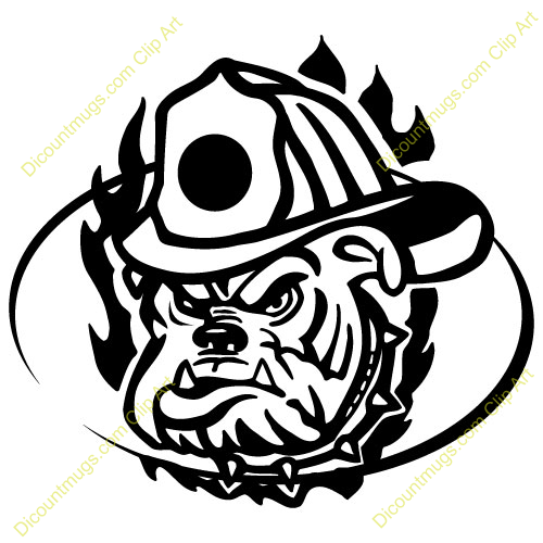 Firefighter clipart bulldog Mugs 14580 Picture T Clipart