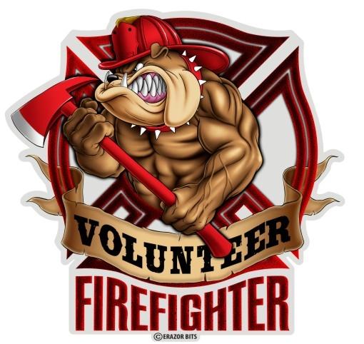 Firefighter clipart bulldog Decal Firefighter Volunteer Bulldog