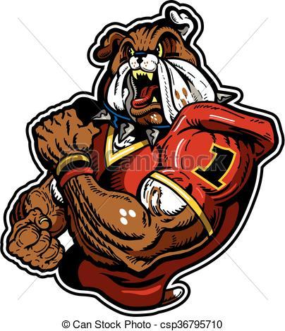 Bulldog clipart football player Vector bulldog Vector  Clip