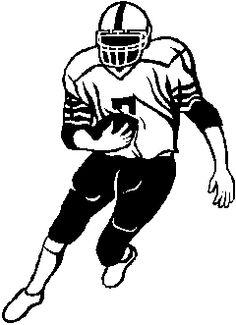 Bulldog clipart football player Jpg player clipart black hamstring