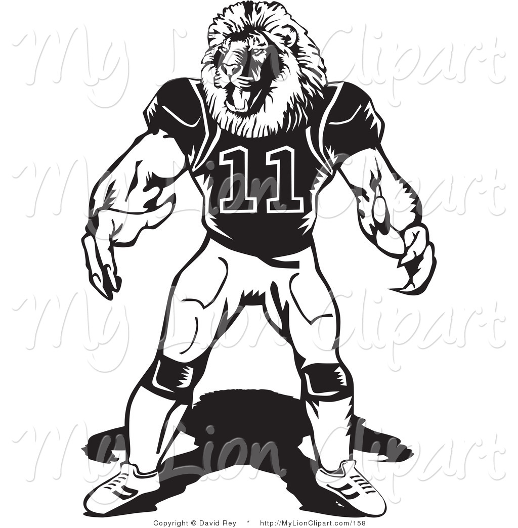 Bulldog clipart football player Muscular Football Lion cliparts Clipart