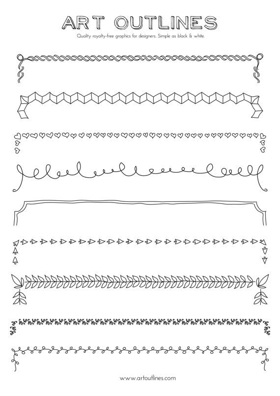 Drawn decoration ornate 69 Corner Set Page Art