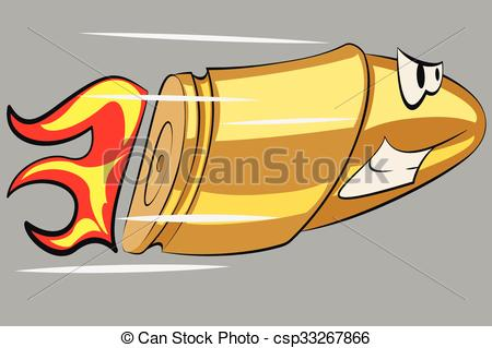 Bullet clipart cartoon Funny Angry of bullet funny