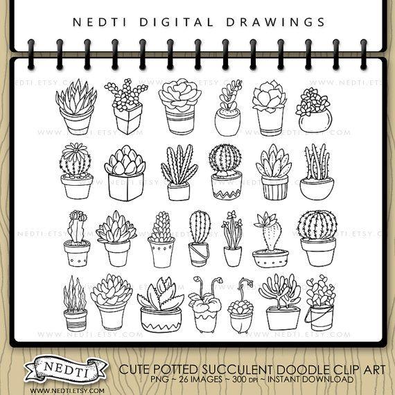 Drawn bullet clipart Art Plant Handdrawn Cactus
