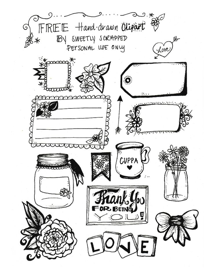 Drawn bullet clipart Journal clip Sweetly art by