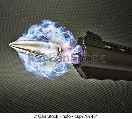 Drawn bullet gun shooting #1