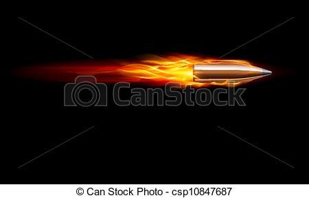 Drawn bullet gun shooting #2