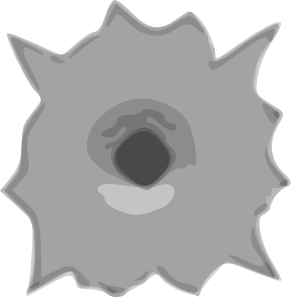 Bullet clipart shot hole Hole Art com Hole Art