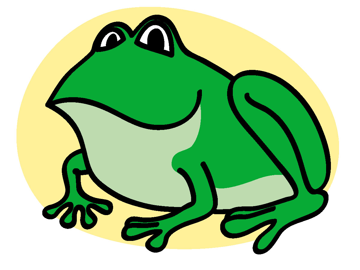 Green Frog clipart Bullfrog craft projects Clipart Clipartoons