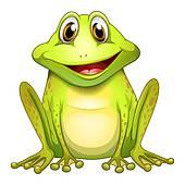 Bullfrog clipart Doing cartoon yoga; Royalty Bullfrog