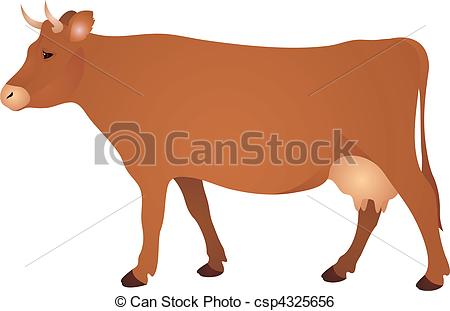 Bull clipart brown cow Vector Clip Illustration  Art