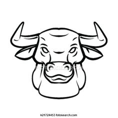Drawn bull black and white Drawing Illustration Art Search Clipart