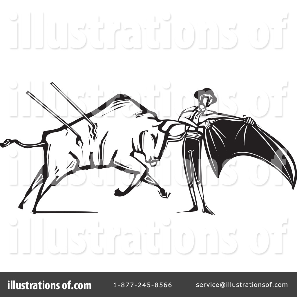 Bull clipart bullfight Bullfighting by Bullfighting Illustration xunantunich