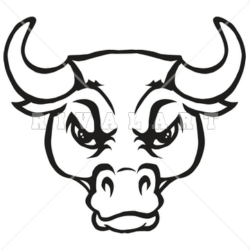 Drawn bulls spain bull Clipart  bull head