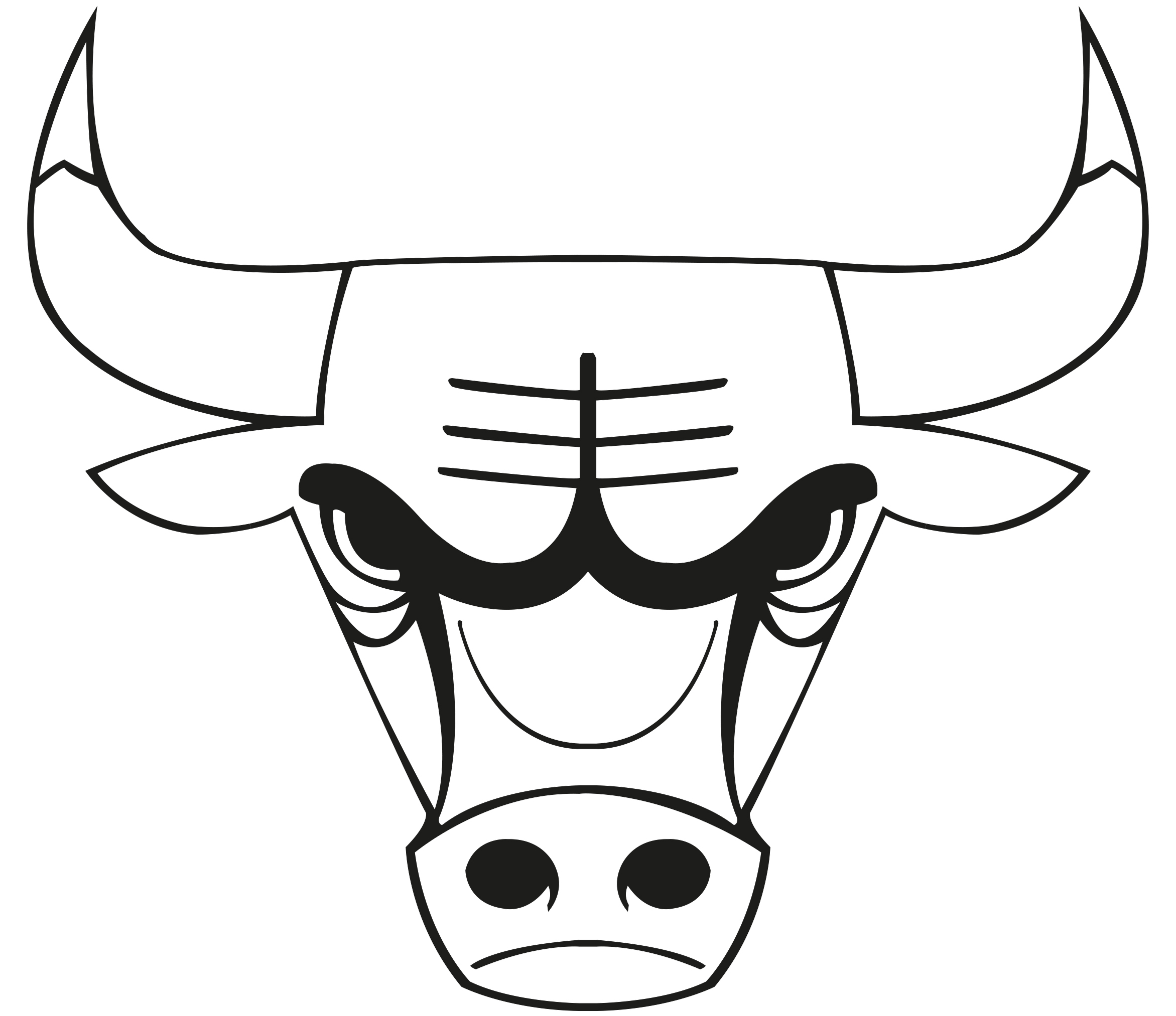 Drawn bulls spain bull  Drawing Chicago logo of