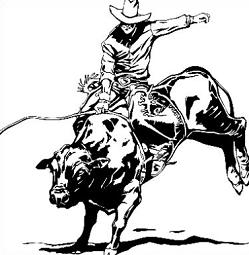 Bull clipart rodeo bull  Rodeo Joan on Pin