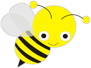 Bees clipart clear background To Public Cute & Bee