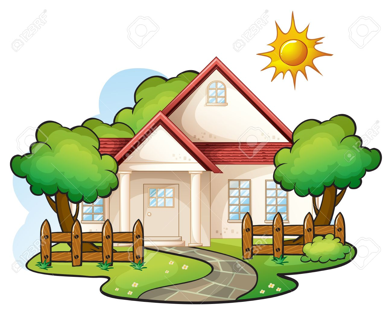 Bungalow clipart nipa Collection Vector house style 2