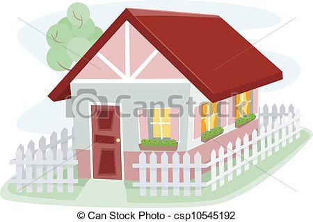 Illustration clipart bungalow Clip Art a 012 Surrounded