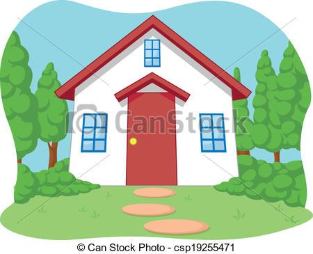 Bungalow clipart little house Cute Little cute Vector Little