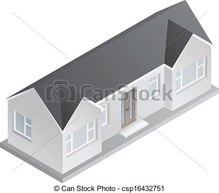 Bungalow clipart my house 3d Bungalow 3d drawing Clipart