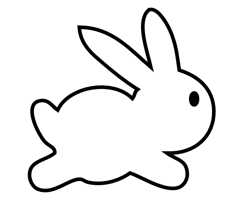 Drawn rabbid profile Free Panda Images Clipart Rabbit