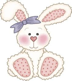 Cuddling clipart Baby bunny handprints Easter clipart