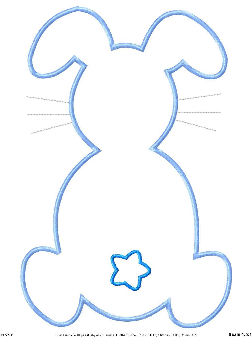 Footprint clipart easter bunny Embroidery Outline  Easter Machine