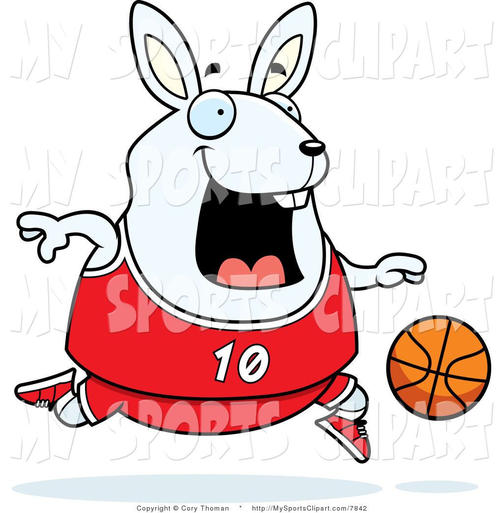 Bunny clipart basketball Clip Playing Sports a of